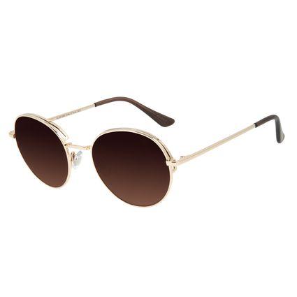 Óculos de Sol Feminino Chilli Beans Redondo Flap Degradê Marrom    OC.MT.2583-5764