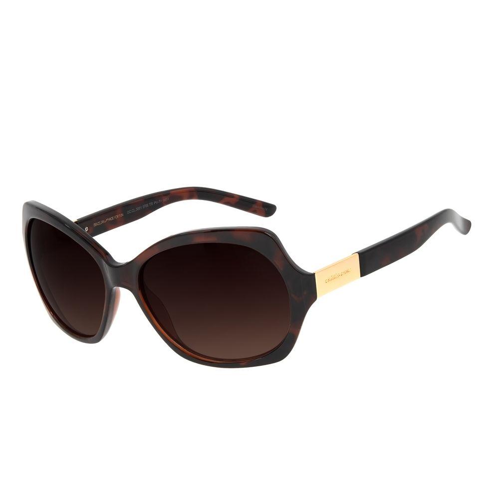 Óculos de Sol Feminino Chilli Beans Essential Quadrado Classic Tartaruga OC.CL.3001-5706