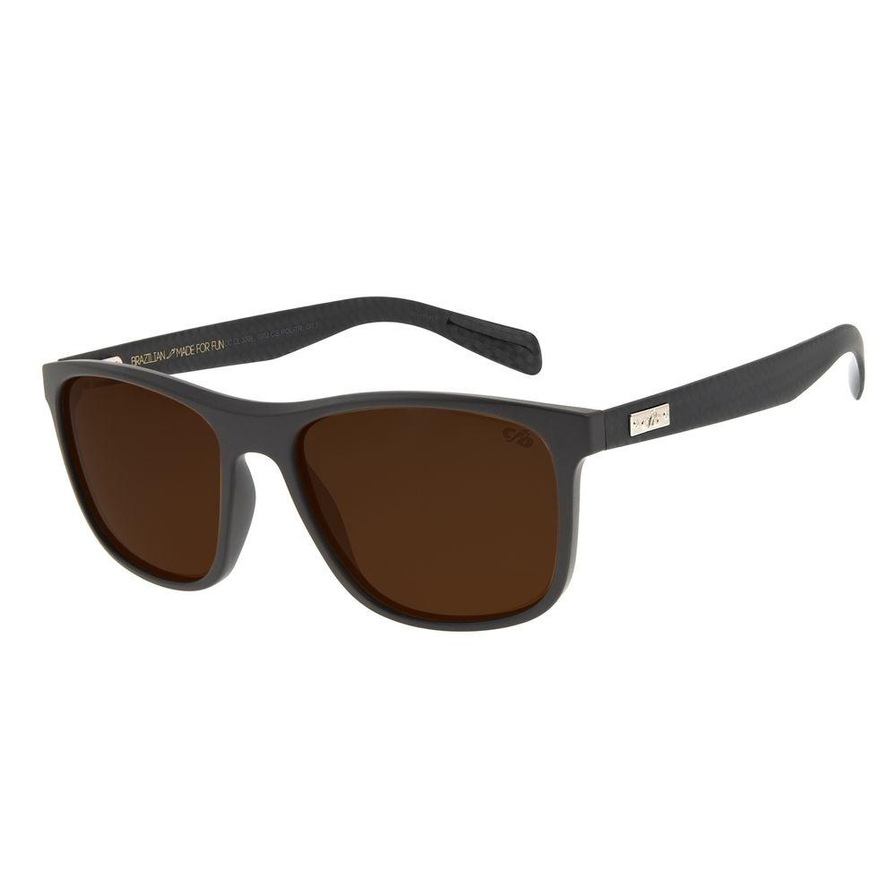 Óculos de Sol Masculino Chilli Beans Bossa Nova Casual Marrom Polarizado OC.CL.3098-0202