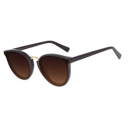 Óculos de Sol Feminino Chilli Beans Classic Redondo Degradê Marrom OC.CL.3134-5714