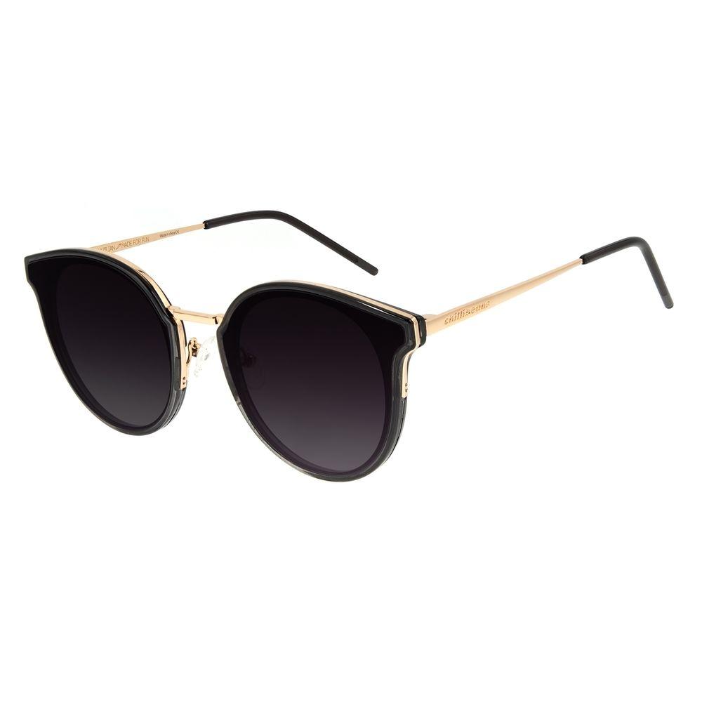 Óculos de Sol Feminino Chilli Beans Casual Redondo Preto OC.CL.3135-2001