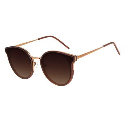 Óculos de Sol Feminino Chilli Beans Casual Redondo Marrom OC.CL.3135-5702