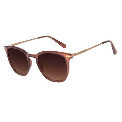Óculos de Sol Feminino Chilli Beans Basic Quadrado Degradê Marrom OC.CL.3136-5702