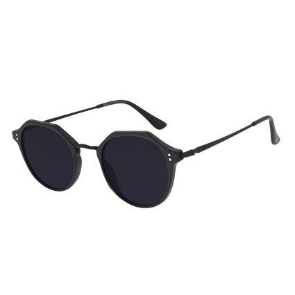 Óculos de Sol Unissex Chilli Beans Redondo Preto OC.CL.3137-0101