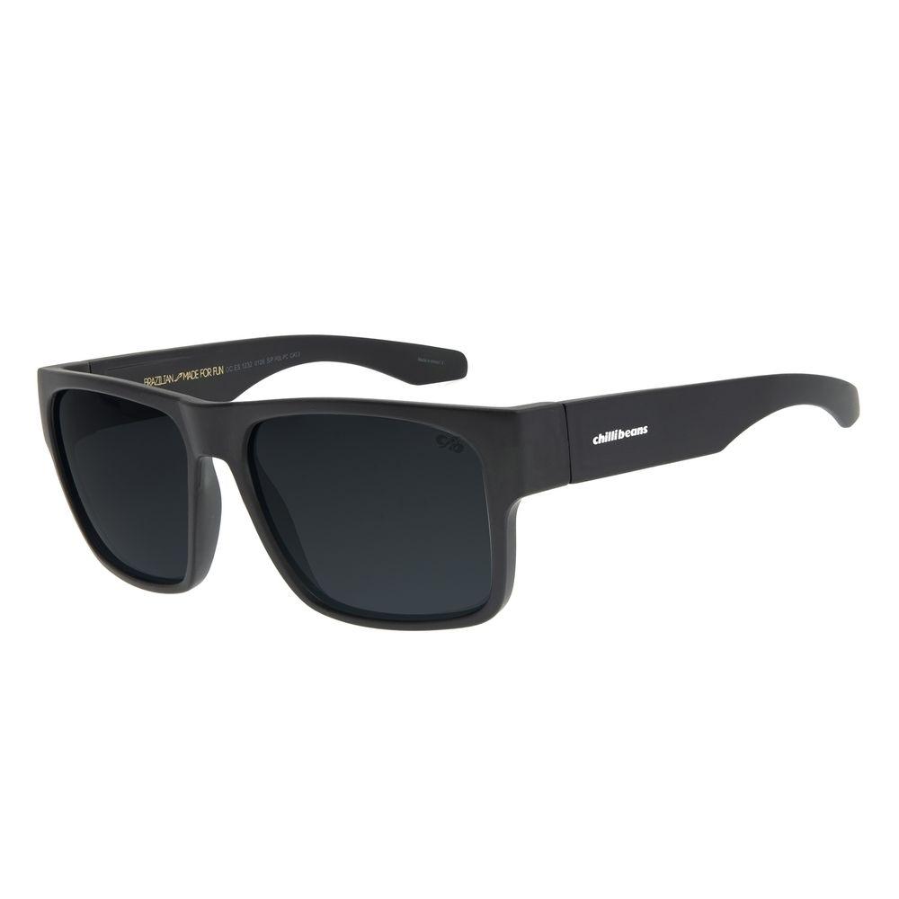 Óculos de Sol Masculino Chilli Beans New Sport Polarizado Verde Escuro OC.ES.1232-0126