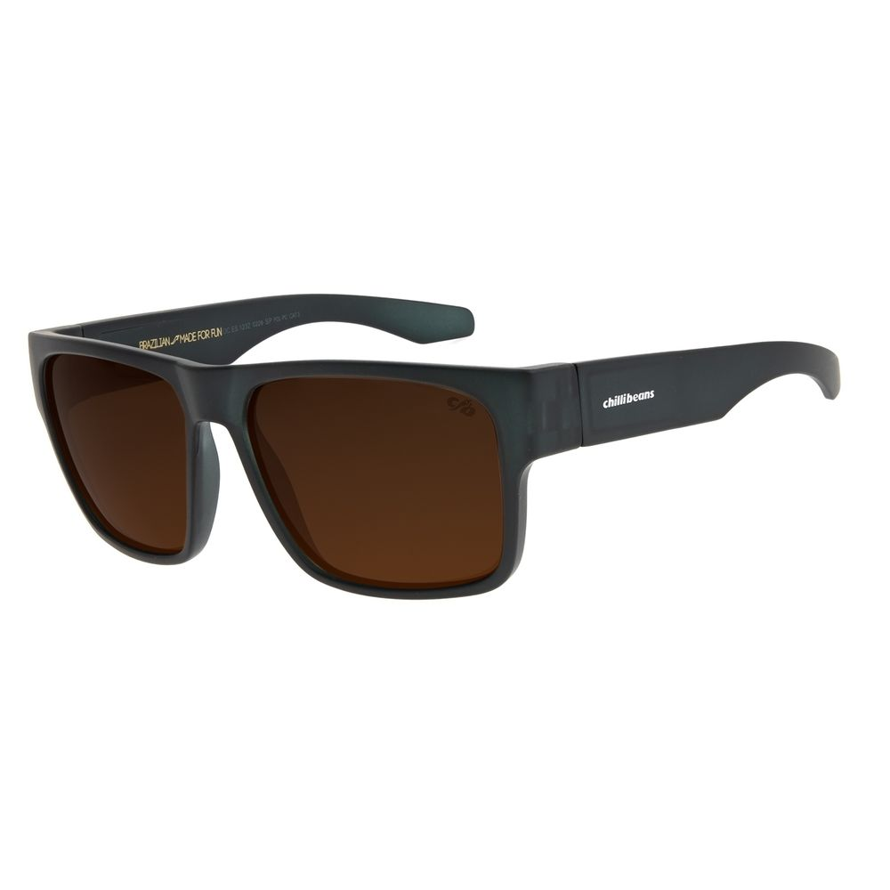 Óculos de Sol Masculino Chilli Beans New Sport Polarizado Cinza Escuro OC.ES.1232-0228