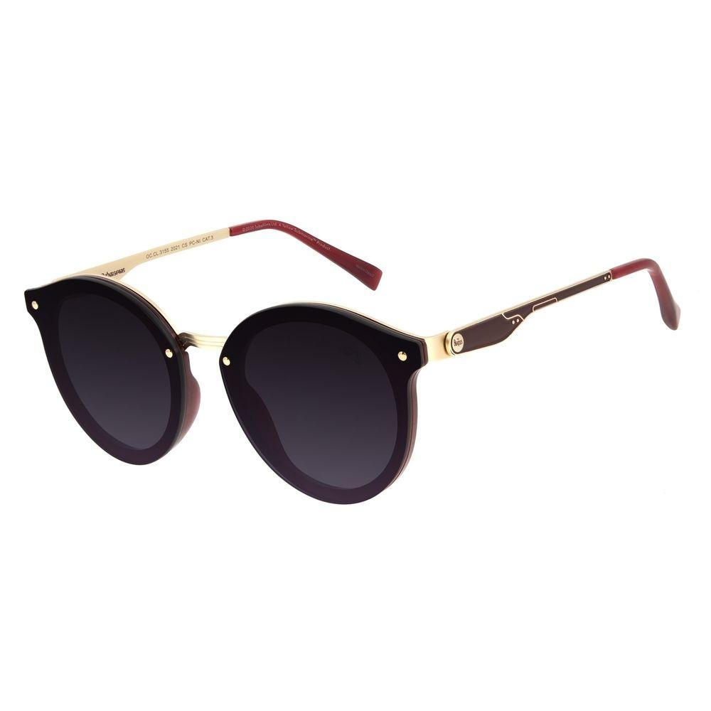 Óculos de Sol Feminino The Beatles Yellow Submarine Redondo Degradê OC.CL.3155-2021