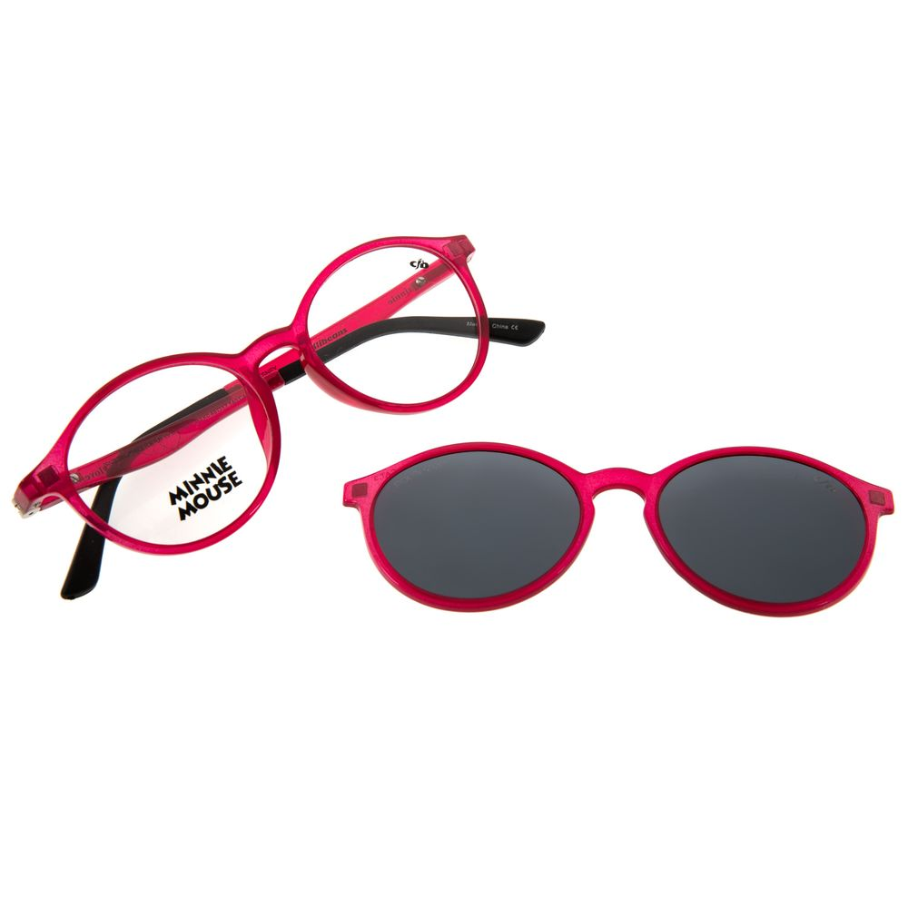 Armação Para Óculos De Grau Feminino Teen Disney Multi Flexível Rosa LV.MU.0431-1313
