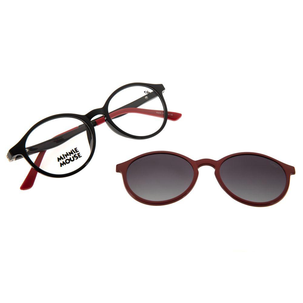 Armação Para Óculos De Grau Feminino Teen Disney Multi Flexível Preto LV.MU.0431-1701