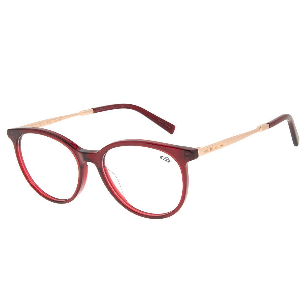 Armação Para Óculos de Grau Feminino Chilli Beans Redondo Vinho LV.AC.0681-1795