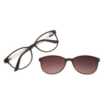 Armação Para Óculos de Grau Feminino Chilli Beans Multi Marrom Polarizado LV.MU.0404-5702