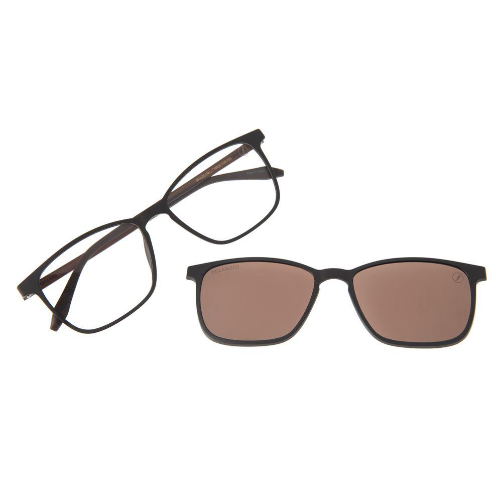 Armação Para Óculos De Grau Masculino Chilli Beans Essential Multi Marrom Escuro Polarizado LV.MU.0407-0247