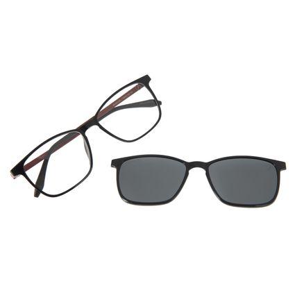 Armação Para Óculos De Grau Masculino Chilli Beans Essential Multi Fumê Polarizado LV.MU.0407-0501