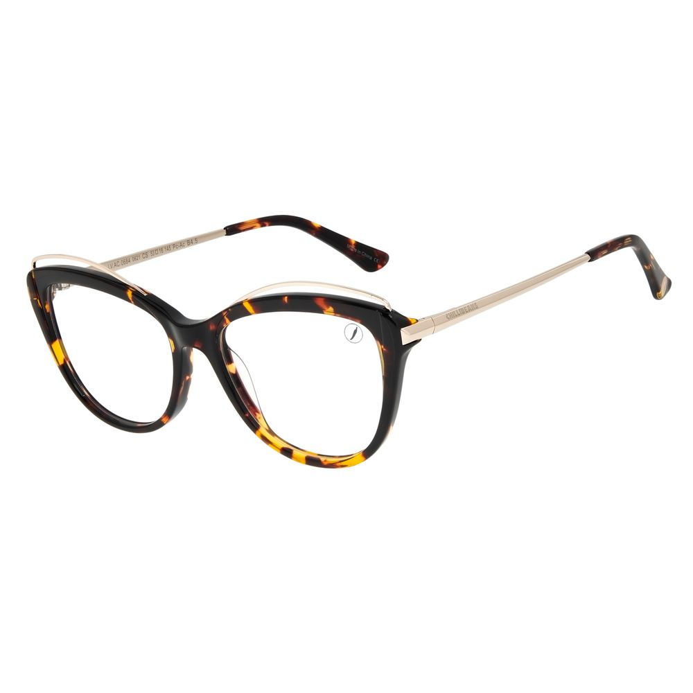Armação Para Óculos de Grau Feminino Chilli Beans Cat Tartaruga LV.AC.0684-0621