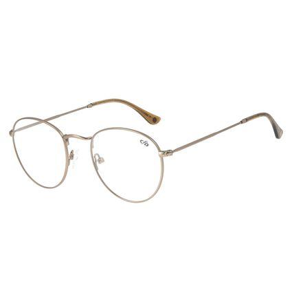 Armação para Óculos de Grau Unissex Chilli Beans Redondo Marrom LV.MT.0304-0202