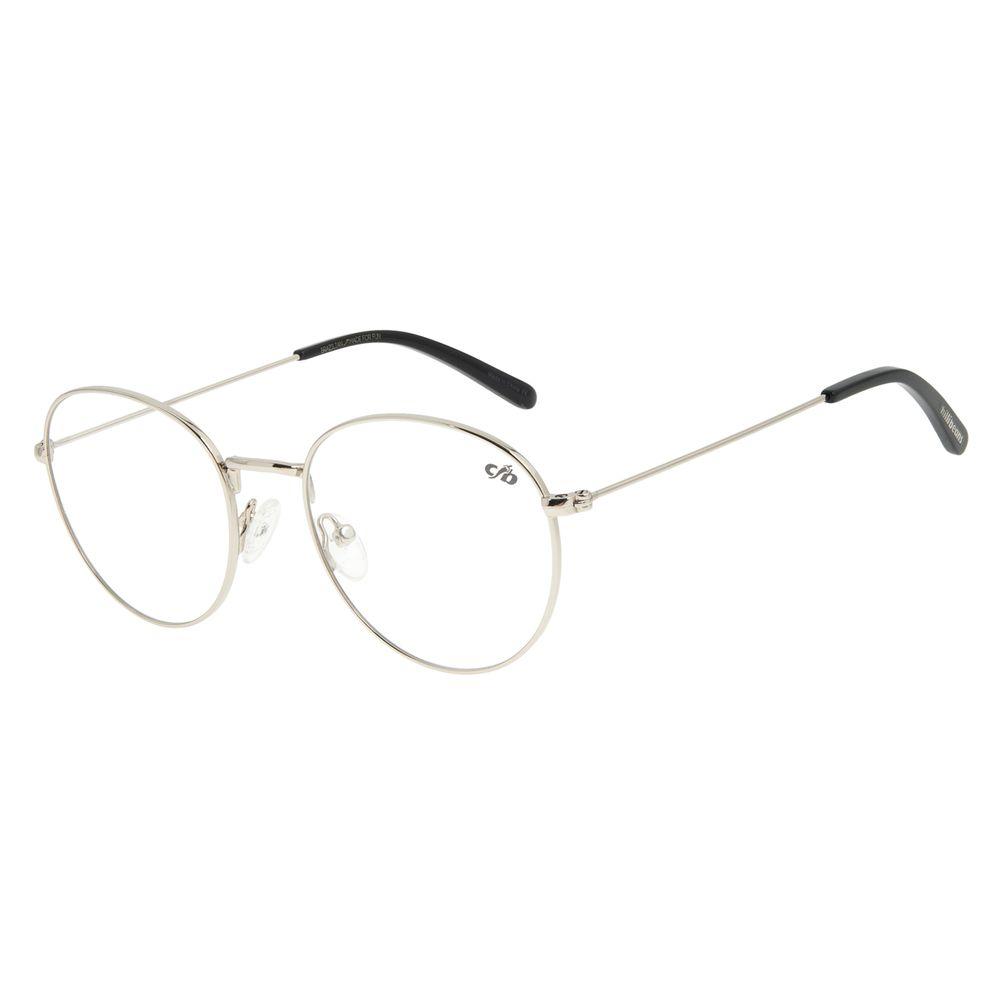 Armação para Óculos de Grau Unissex Chilli Beans Redondo Prata LV.MT.0363-0707
