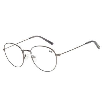 Armação para Óculos de Grau Unissex Chilli Beans Redondo Grafite LV.MT.0363-2424
