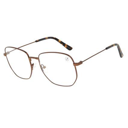 Armação Para Óculos de Grau Feminino Chilli Beans Quadrado Casual Marrom LV.MT.0485-0202