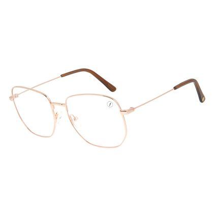Armação Para Óculos de Grau Feminino Chilli Beans Quadrado Casual Rose LV.MT.0485-9595