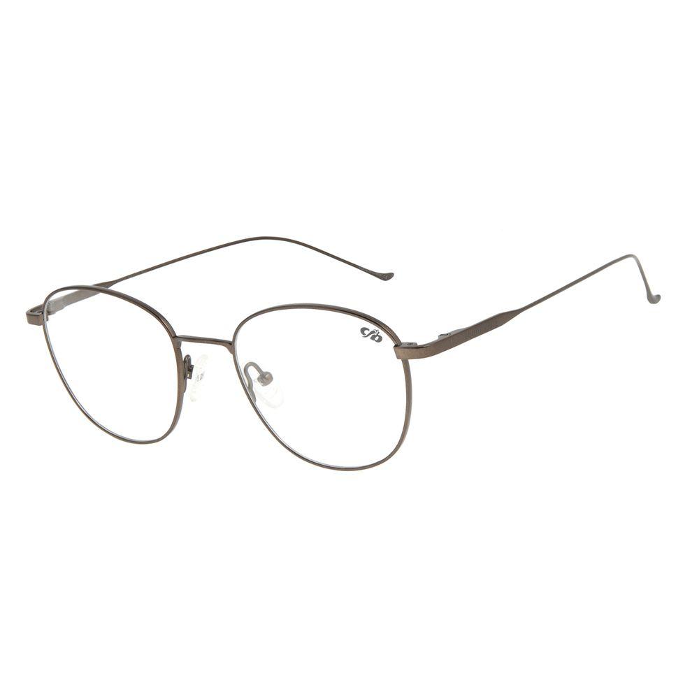 Armação Para Óculos de Grau Unissex Chilli Beans Redondo Titânio Bege LV.MT.0375-2323