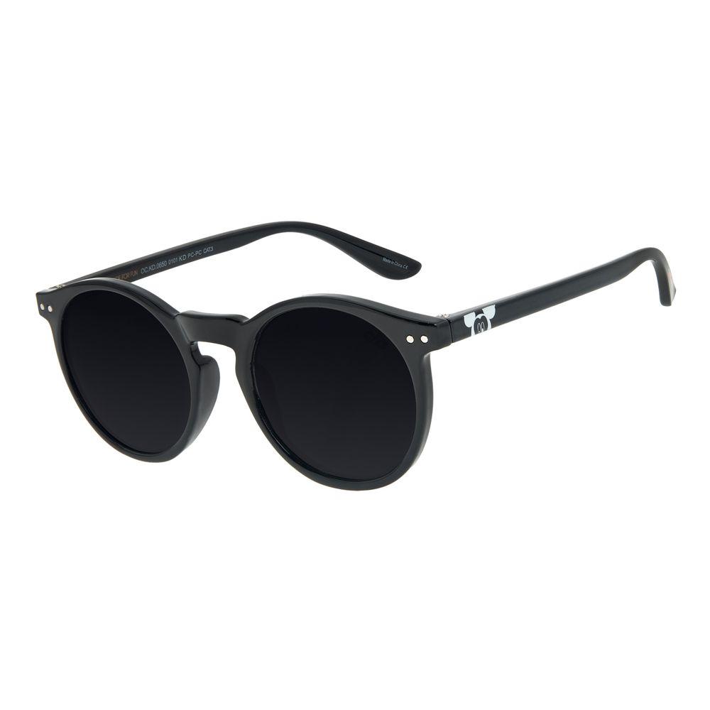 Óculos de Sol Infantil Mickey Mouse Redondo Preto OC.KD.0650-0101