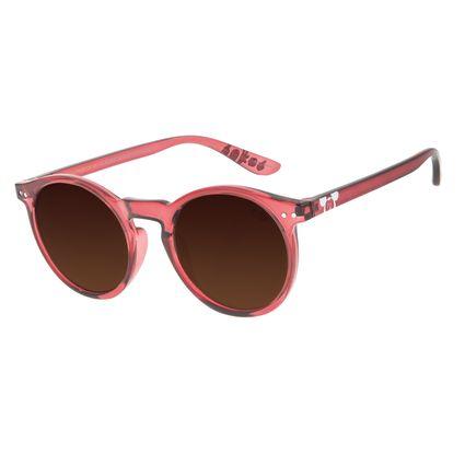 Óculos de Sol Infantil Mickey Mouse Redondo Vermelho OC.KD.0650-0216