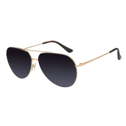 Óculos de Sol Unissex Chilli Beans Aviador Dourado OC.MT.2978-2021