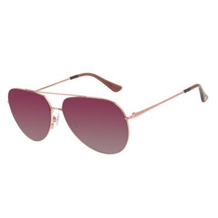 Óculos de Sol Unissex Chilli Beans Aviador Rosé OC.MT.2978-2095