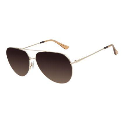 Óculos de Sol Unissex Chilli Beans Aviador Degradê Marrom OC.MT.2978-5764