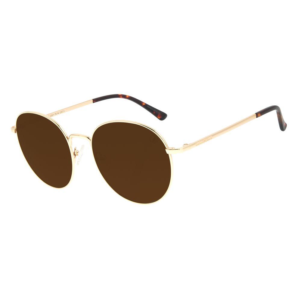 Óculos de Sol Feminino Chilli Beans Dourado Banhado A Ouro OC.MT.2997-2021