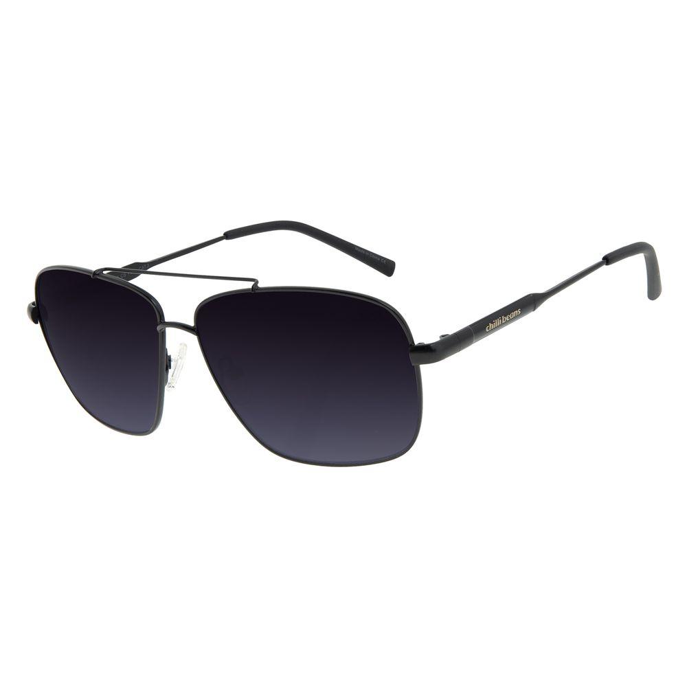 Óculos de Sol Unissex Chilli Beans Executivo Preto OC.MT.2995-0101