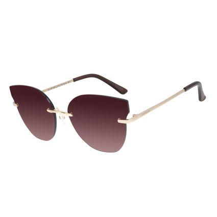 Óculos de Sol Feminino Chilli Beans Flutuante Degradê Marrom OC.MT.2912-5721