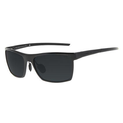 Óculos de Sol Unissex Chilli Beans Quadrado Preto Polarizado OC.AL.0255-0101