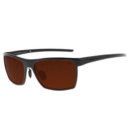 Óculos de Sol Unissex Chilli Beans Quadrado Marrom Polarizado OC.AL.0255-0201