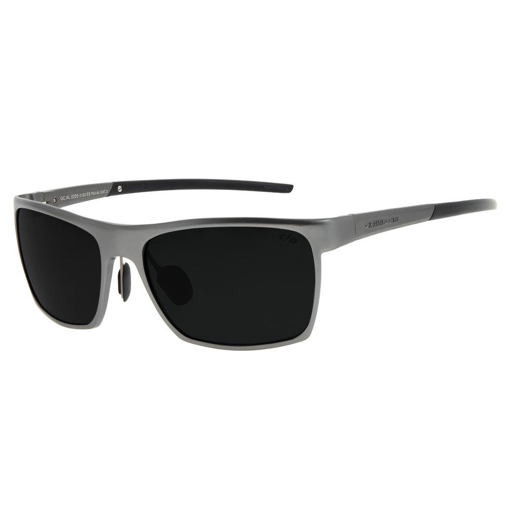 Óculos de Sol Unissex Chilli Beans Quadrado Ônix Polarizado OC.AL.0255-0122