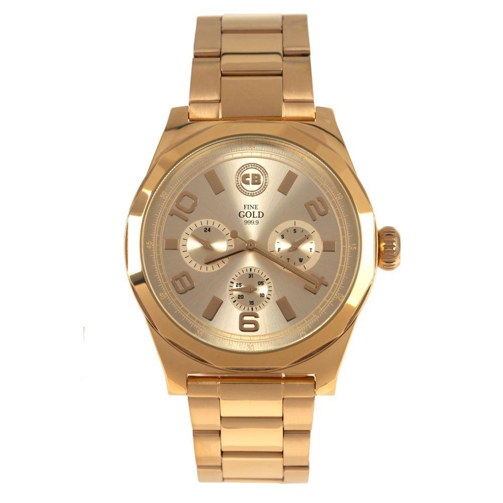 Relógio Analógico Masculino Funk-se Ludmilla Metal Dourado RE.MT.1170-2121