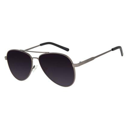 Óculos de Sol Unissex Chilli Beans Aviador Metal Ônix OC.MT.2846-2022