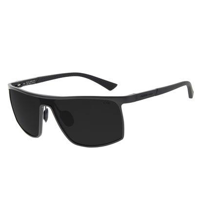 Óculos de Sol Masculino Chilli Beans Quadrado Esportivo Preto Polarizado OC.AL.0258-0101