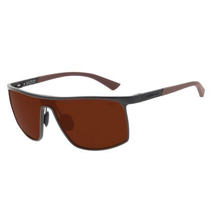 Óculos de Sol Masculino Chilli Beans Quadrado Esportivo Marrom Polarizado OC.AL.0258-0201