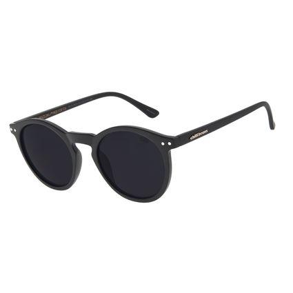Óculos de Sol Unissex Chilli Beans Casual Redondo Preto Fosco OC.CL.2615-0131