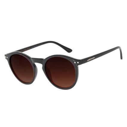 Óculos de Sol Unissex Chilli Beans Casual Redondo Degradê Marrom OC.CL.2615-5701