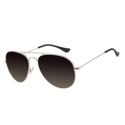 Óculos de Sol Unissex Chilli Beans Aviador Metal Prata OC.MT.2821-2007