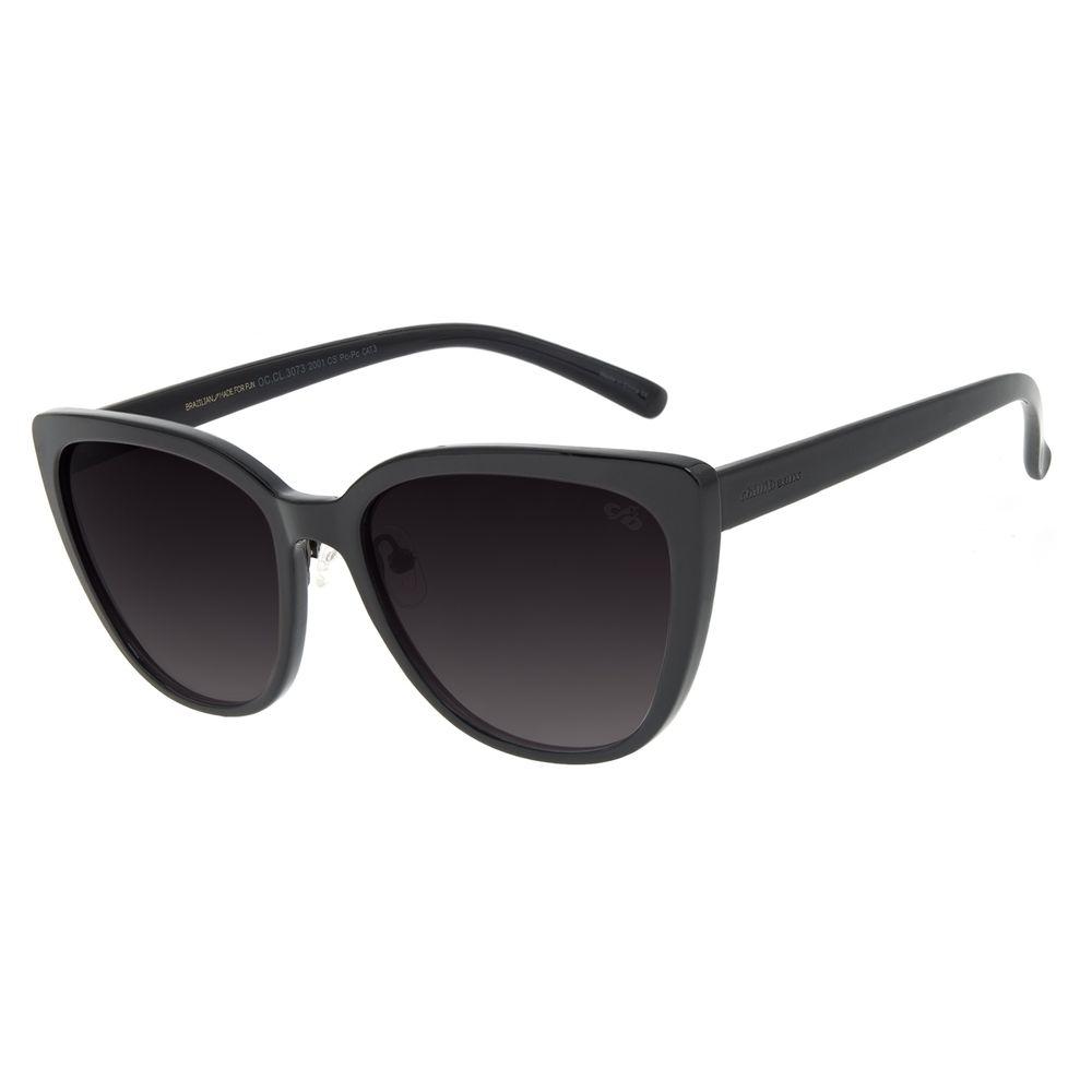 Óculos de Sol Feminino Chilli Beans Casual Redondo Preto OC.CL.3073-2001