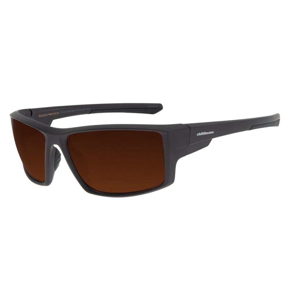Óculos de Sol Masculino Chilli Beans Performance Marrom OC.ES.1248-0202