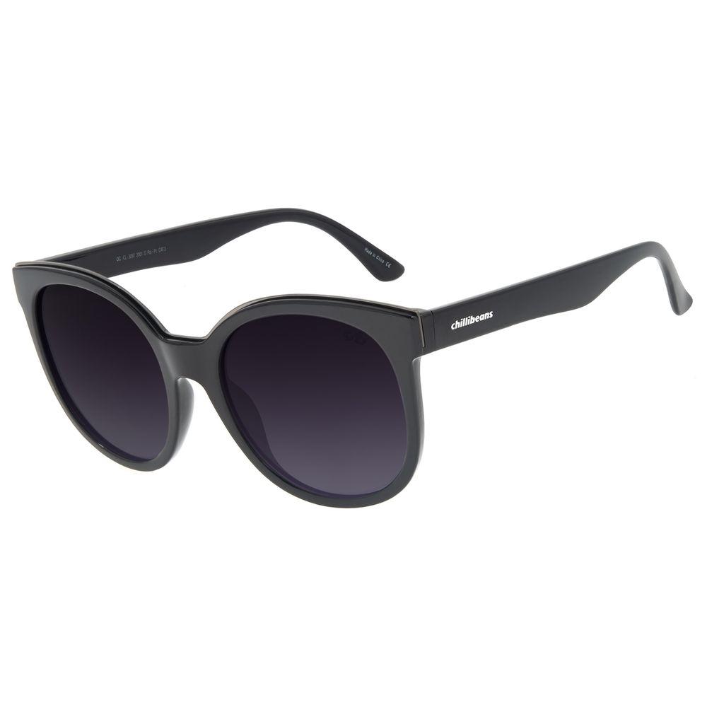 Óculos de Sol Feminino Chilli Beans Classic Quadrado Preto OC.CL.3097-2001