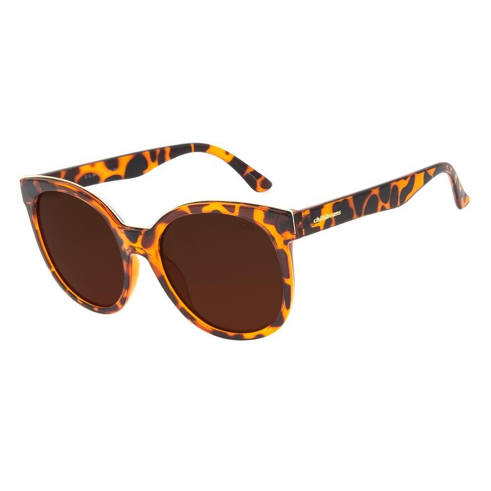 Óculos de Sol Feminino Chilli Beans Classic Quadrado Tartaruga OC.CL.3097-0206
