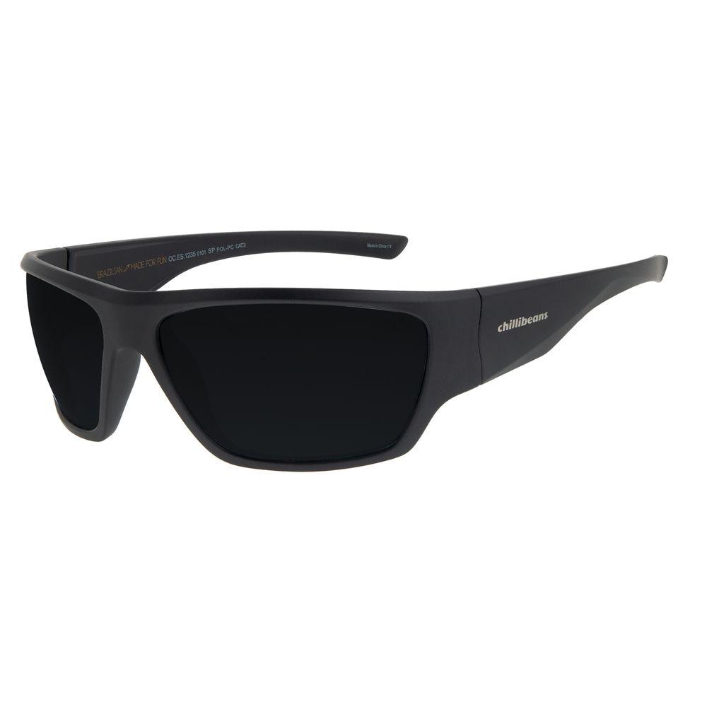 Óculos de Sol Masculino Chilli Beans Performance Preto OC.ES.1235-0101