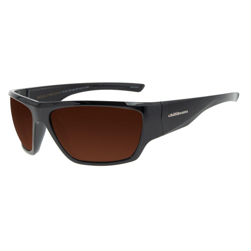 Óculos de Sol Masculino Chilli Beans Performance Marrom OC.ES.1235-0230