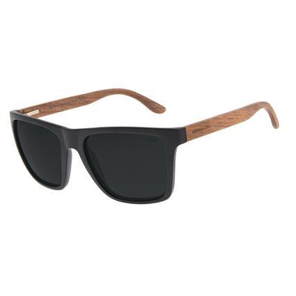 Óculos de Sol Masculino Chilli Beans Bamboo Polarizado Preto Fosco OC.CL.3171-0101