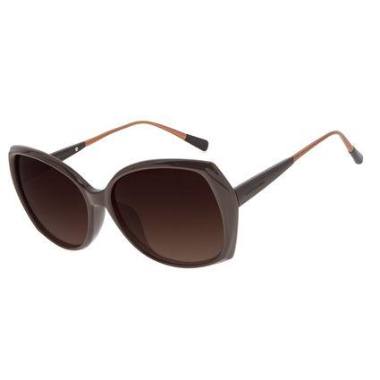 Óculos de Sol Feminino Chilli Beans Redondo Marrom OC.CL.3176-5702